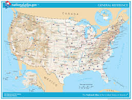 Printable Map Of United States by General Reference Printable Map