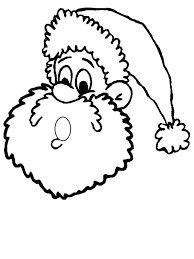 santa claus face colouring pages 3 clip art library