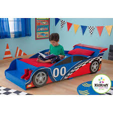 Single Kids Bed Frame Furniture Toddler Childrens Racing Car Bed - Race car bunk bed