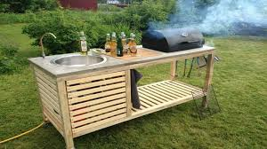 diy idea make your own portable outdoor kitchen home design