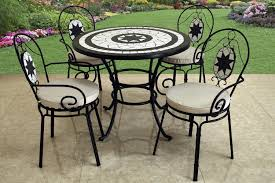 Mosaic Bistro Table Small Bistro Table With Outdoor Furniture Also Grass On The Garden