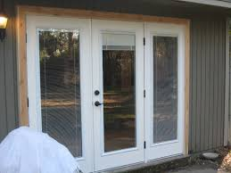 Patio French Doors With Blinds by Patio Doors Bestrench Patio Doors With Blinds Wood Door Inswing