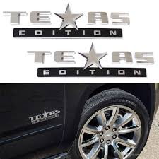 chevrolet car logo 2018 chrome finish 3d texas edition emblem badges sticker for