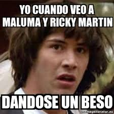 Ricky Martin Meme - meme keanu reeves yo cuando veo a maluma y ricky martin dandose un