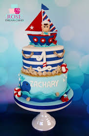 nautical cake nautical theme baby birthday cake with custom edible topper from