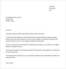 job resignation letter family reasons sample customer service