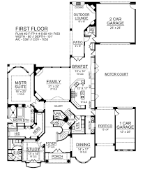european house plan with 4 bedrooms and 5 5 baths plan 9450 first floor