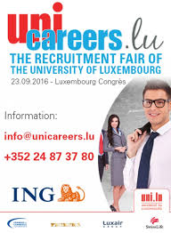 unicareers lu the unique recruitment fair of the of unicareers moovijob 2016 09 23 conventions