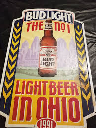 bud light metal sign bud light metal sign general in cleveland oh