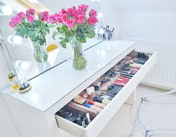 Tesco Vanity Table Makeup Storage Ideas Ikea Malm Makeup Vanity With Mirror