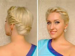 prom hairstyles for medium hair updo with braids for medium long hair crown braid tutorial