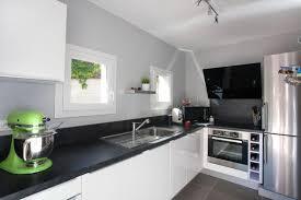 cuisine blanche et grise deco cuisine blanc gris idée de modèle de cuisine