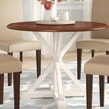 round farmhouse dining table round farmhouse table wayfair