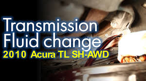 transmission fluid change 2010 acura sh awd youtube