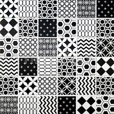 geometric pattern glass tile black and whtie u2013 tiledaily