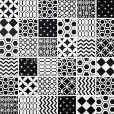 geometric pattern glass tile black and whtie u2013 tiledaily