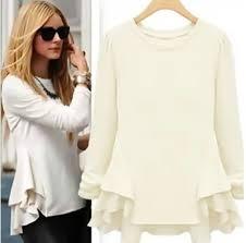 blouse women u0027s top beige top olivia palermo peplum peplum top