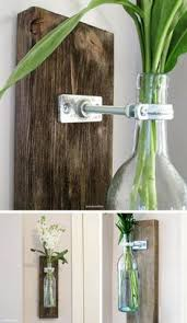 Modern Rustic Decor by Wine Bottle Wall Vase Set Of Four Rustic Modern Decorations