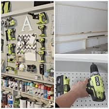 tutorial for organizing the garage with a pegboard storage wall