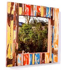 Reclaimed Boat Wood Furniture Teak Mirror Made From Recycled Boat Wood Punk It Up Recycled