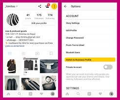 cara membuat akun instagram resmi seperti artis cara mengubah profil instagram pribadi menjadi profil bisnis labana id