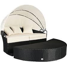 Mountain Outdoor Furniture - cloud mountain 4 pc cushioned outdoor wicker patio set garden lawn