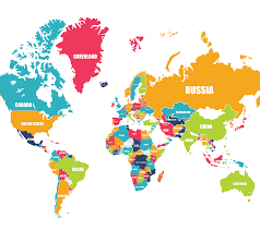 Colored World Map by World Map
