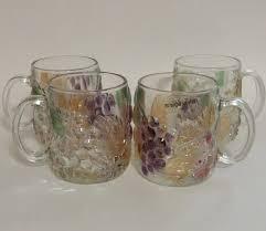 mikasa renaissance antique free shipping nws vintage savoir vivre orchard glass mug