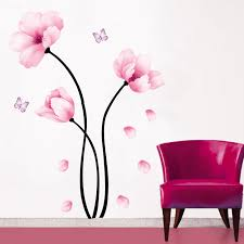 marvelous 3d flower wall decor 5 fabric art magenta loversiq