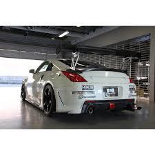 nissan 350z rear spoiler garage mak ducktail wing carbon