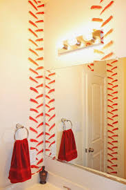 Dark Pink Shower Curtain by Best 25 Baseball Bathroom Ideas On Pinterest Baseball Bathroom