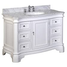 kitchen bath collection vanities katherine 48 inch vanity carrara white kitchenbathcollection