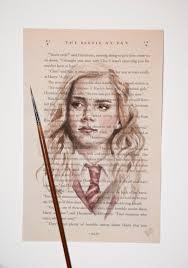 original hermione granger watercolor harry potter book