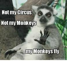 Sexy Monkey Meme - not my circus not my monkeys my monkeys fly iletnemakerner dank