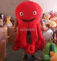 Halloween Octopus Costume Red Octopus Mascot Octopus Costumes Halloween Mascot Fancy Dress