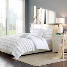 light pink and white bedding bedroom enchanting white ruffle comforter for bedroom decoration