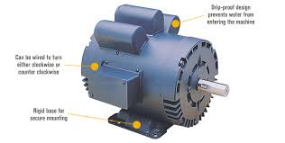 leeson reversible electric motor u2014 5 hp 1740 rpm 230 volts
