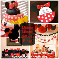 minnie mouse birthday party events to celebrate