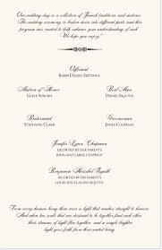 what goes on wedding programs wedding programs with wedding traditions and customs
