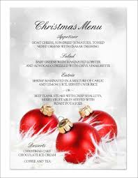 9 holiday party menu templates designs templates free