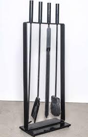 fireplace tools modern minimalist black iron fireplace tool set