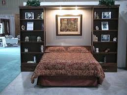 Murphy Bed With Bookshelves Bedroom Comfortable Murphy Bed Ikea For Inspiring Contemporary