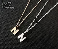 Name Jewelry Wholesale Charm Customized Name Jewelry Initial Letter N Alphabet