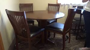 ashley furniture stuman round drop leaf table set review youtube
