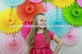 yiwu pretty paper decorations wholesale tissue paper balls fans
