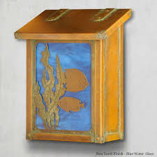 Nautical Themed Mailboxes - fish vertical wall mount mailbox america u0027s finest mailbox co