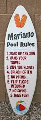 mini surfboard wall art pool rules sign custom personalized