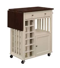 homelegance canela kitchen cart with drop leaf and casters 4697cm