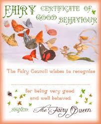 fairy certificate of good behaviour rooftop post printables