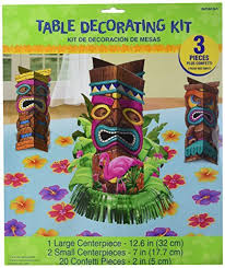 luau table centerpieces hawaiian centerpieces